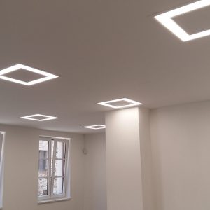 Prezentační fotografie interiérového LED osvětlení